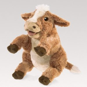 folkmanis Cow Brown puppet