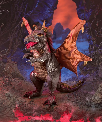 folkmanis Dragon Black puppet