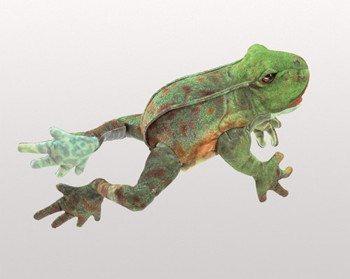 folkmanis Frog Jumping puppet