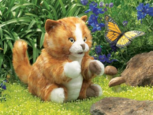 folkmanis Kitten Orange Tabby puppet