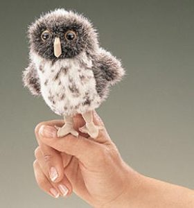 folkmanis Mini Owl Spotted puppet