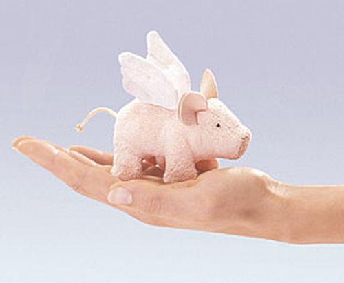 folkmanis Mini Piglet Winged puppet