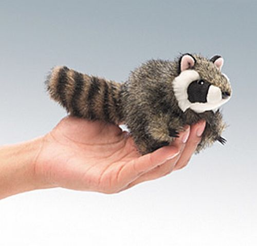 folkmanis Mini Raccoon puppet