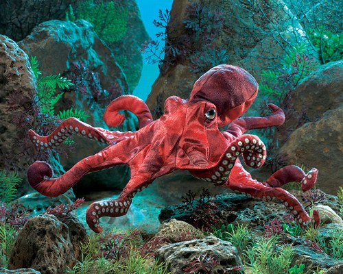 folkmanis Octopus Red puppet
