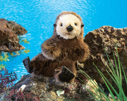 folkmanis Otter Baby Sea puppet