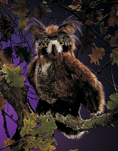 folkmanis Owl Great Horned puppet