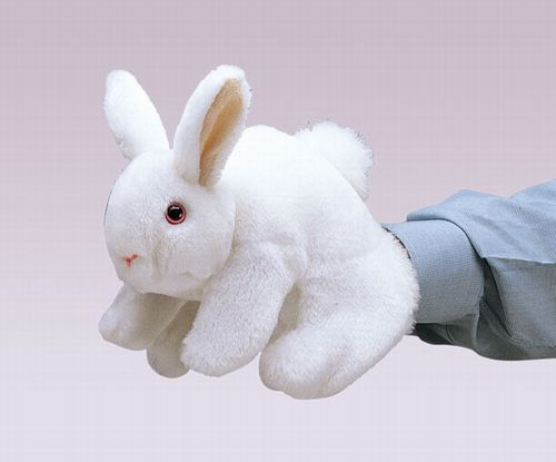 folkmanis Rabbit Bunny White puppet