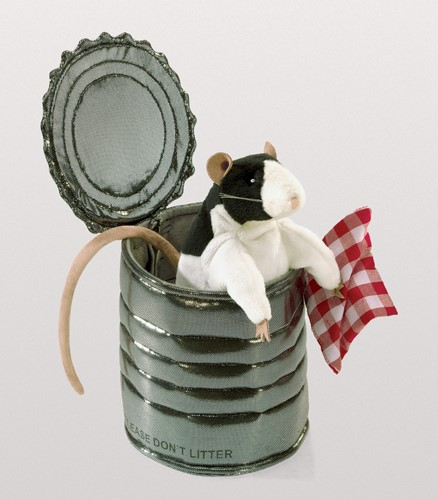folkmanis Rat in Tin Can puppet