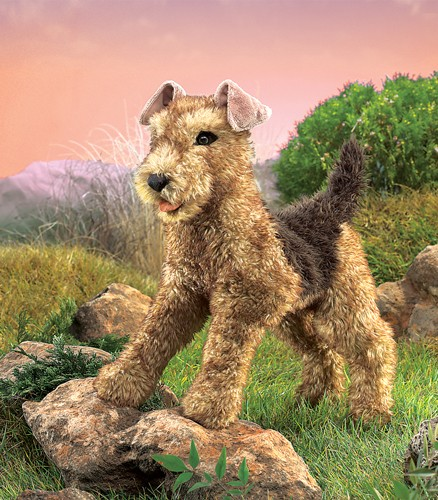 folkmanis Terrier Airedale puppet