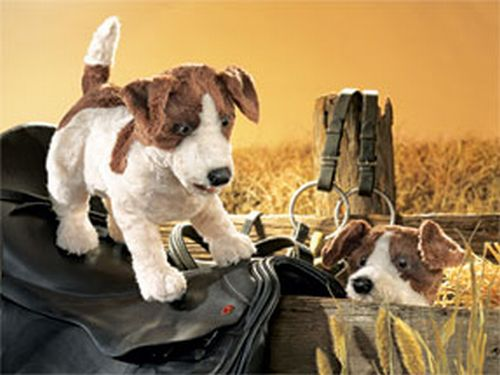 folkmanis Terrier Jack Russell puppet